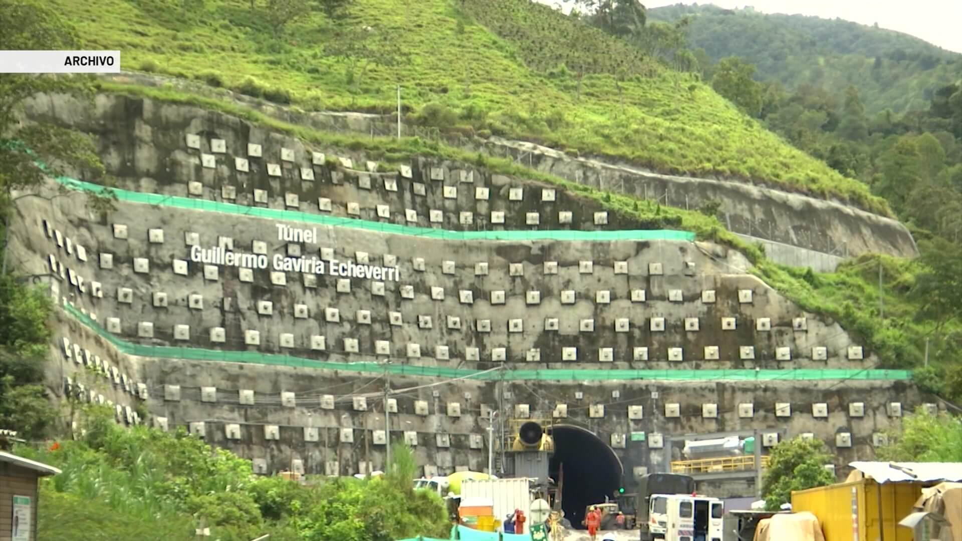 Adjudican obras de acceso al Túnel Guillermo Gaviria