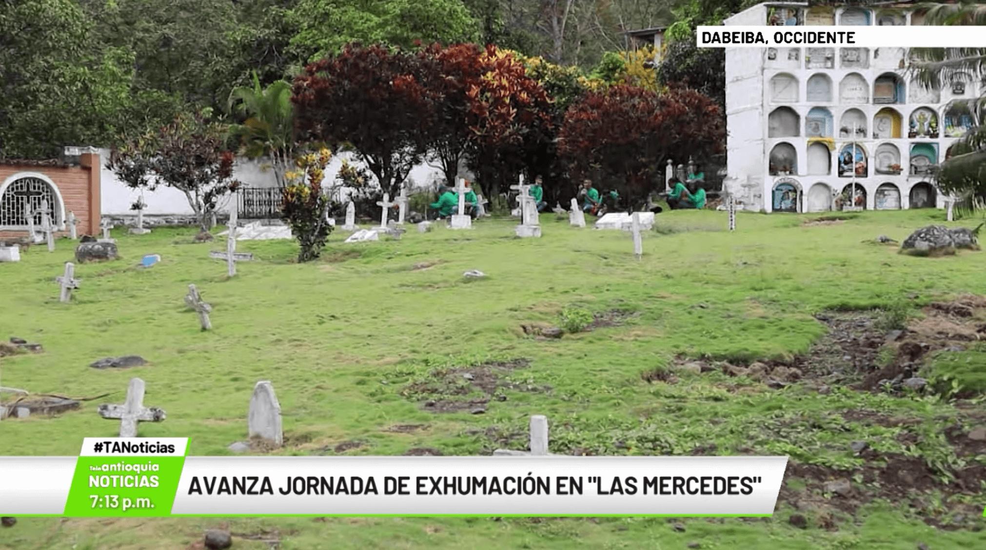 Avanza jornada de exhumación en «Las Mercedes»