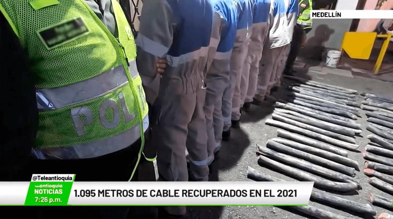 1.095 metros de cable recuperados en el 2021