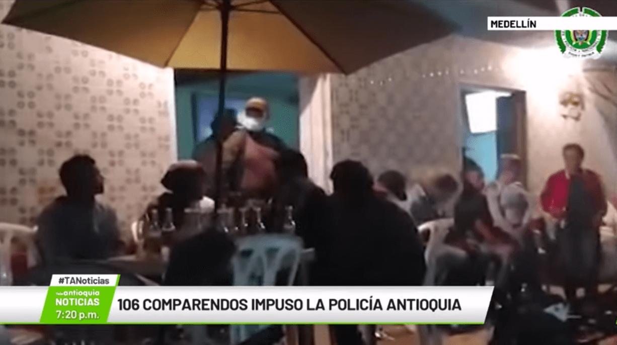 106 comparendos impuso la Policía Antioquia