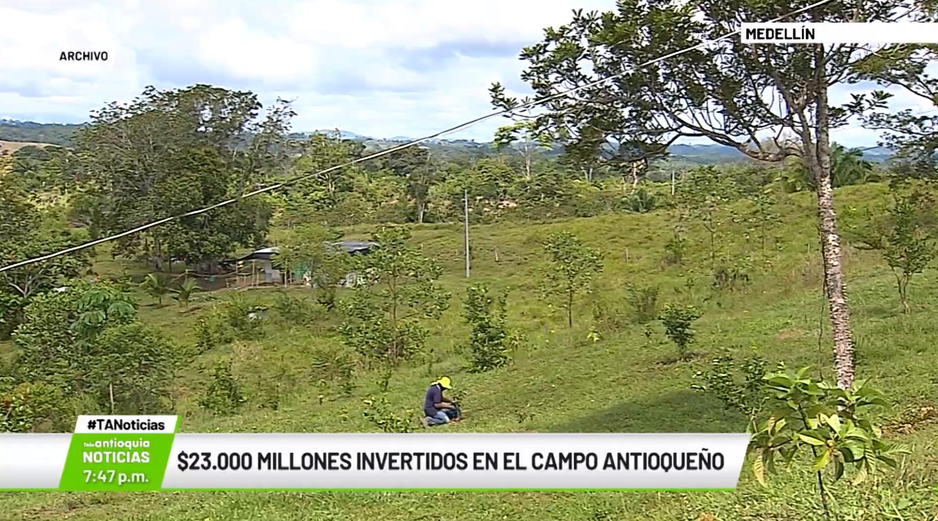 $23.000 millones invertidos en el campo antioqueño