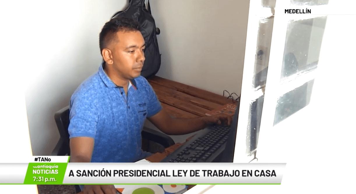 A sanción presidencial ley de trabajo en casa