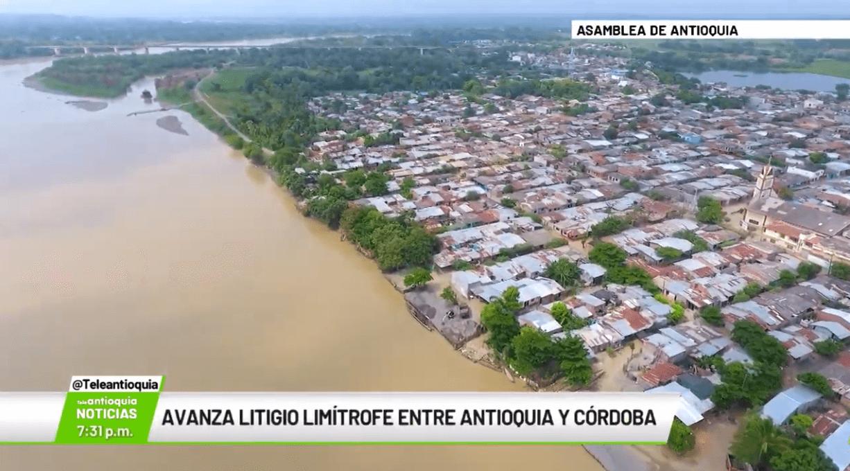 Avanza litigio limítrofe entre Antioquia y Córdoba