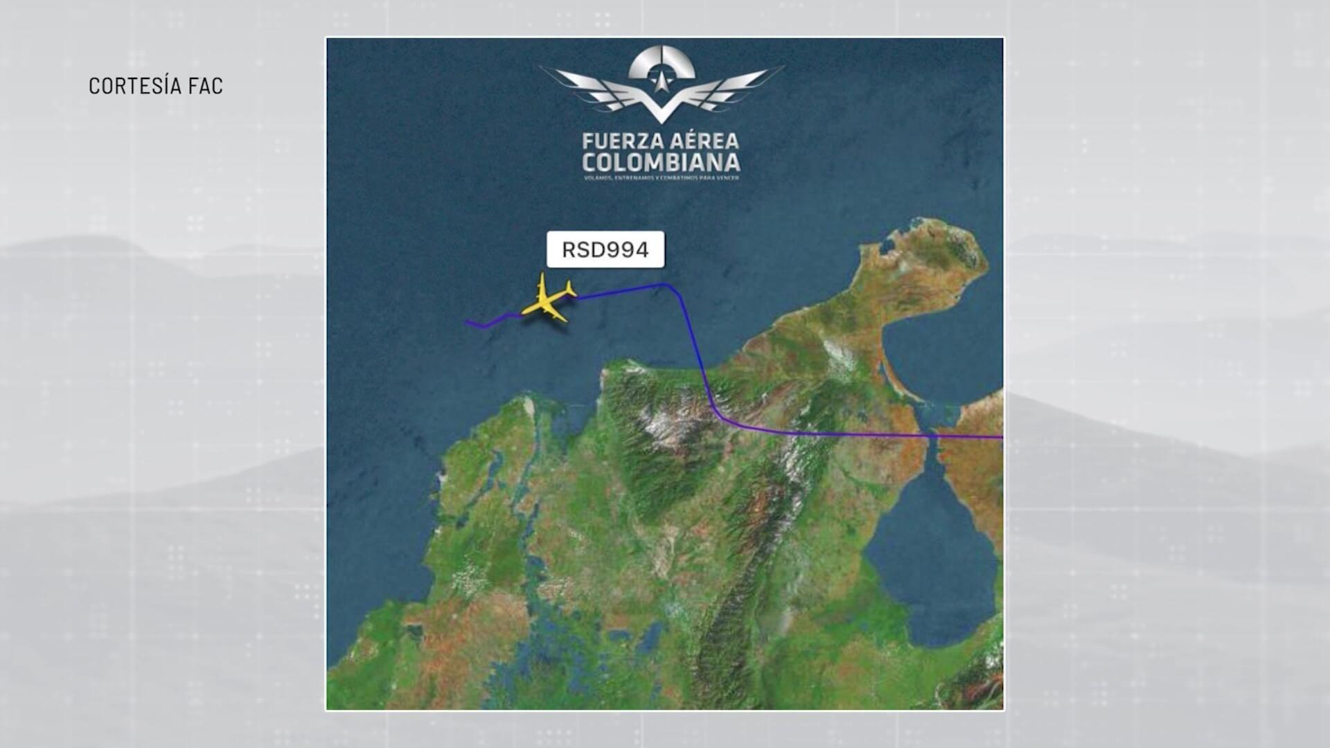 Avión militar ruso sobrevoló territorio colombiano