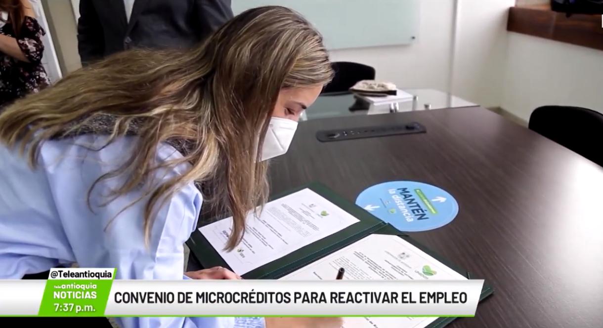 Convenio de microcréditos para reactivar el empleo