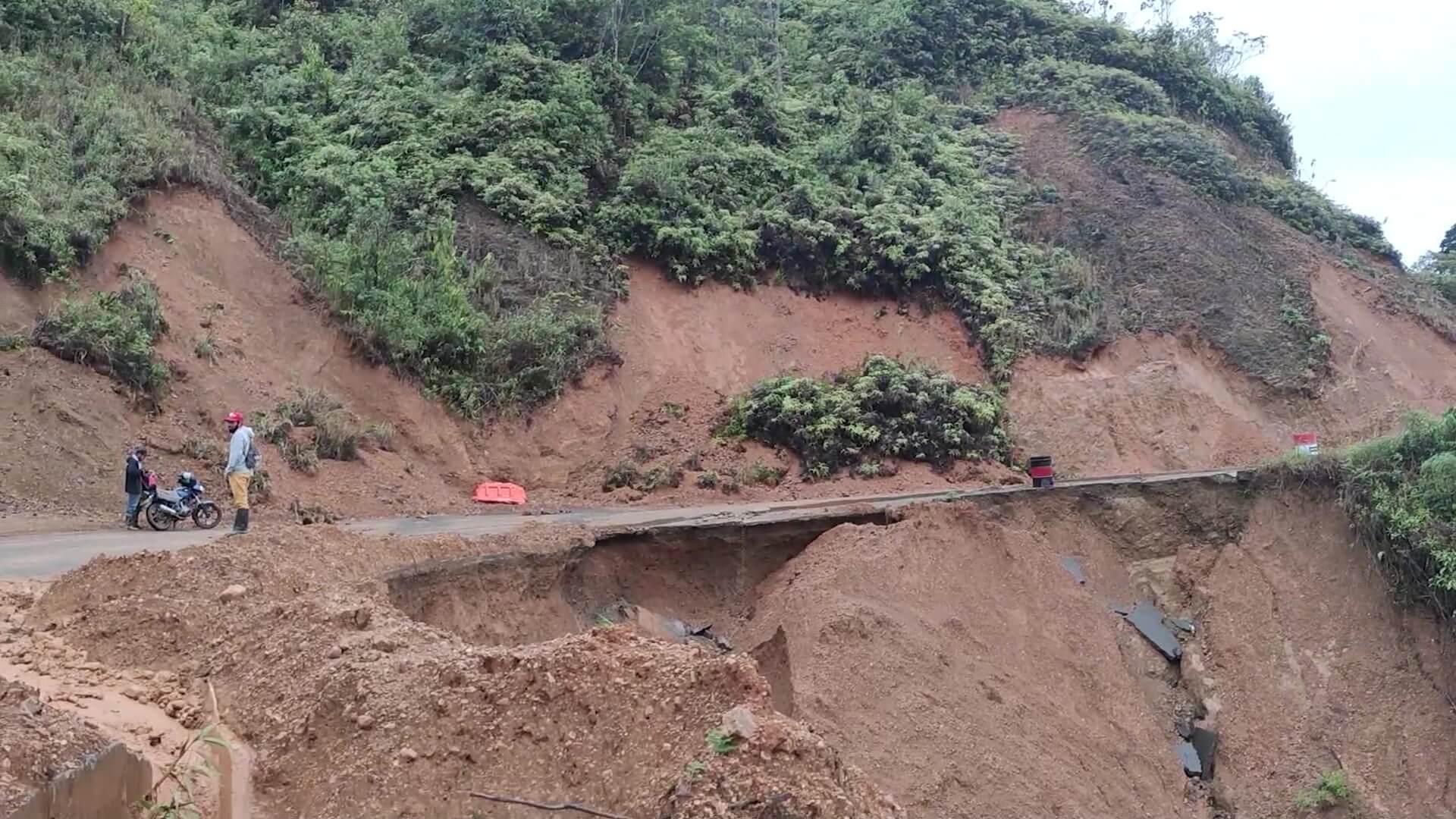 Debido a las lluvias tres veredas están aisladas en Betulia