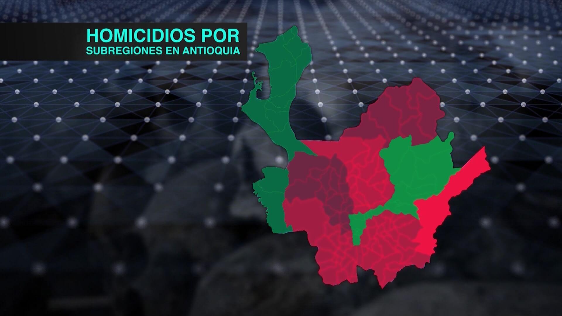 En varias subregiones ha aumentado el homicidio