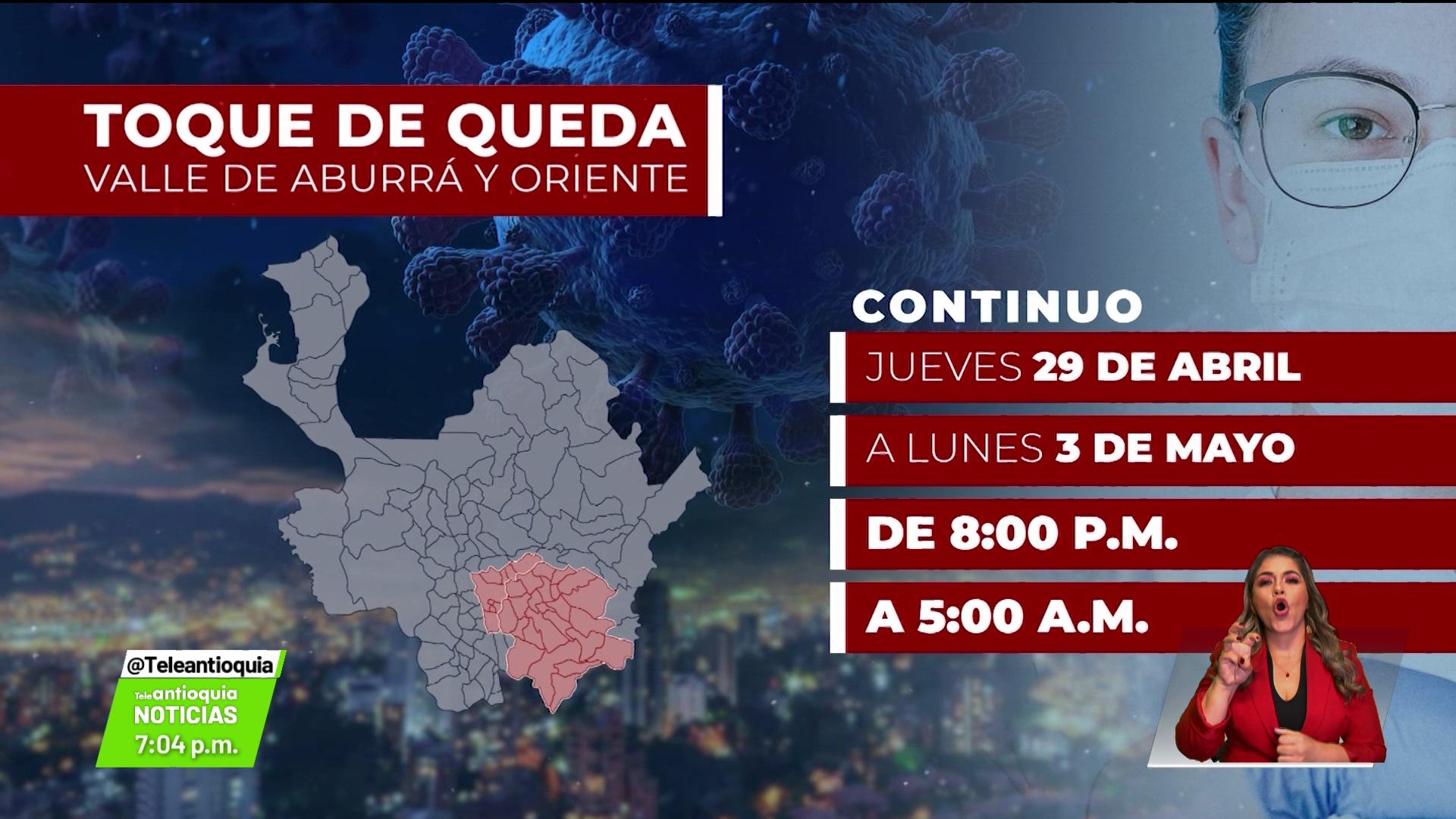 Las nuevas medidas para Antioquia la próxima semana