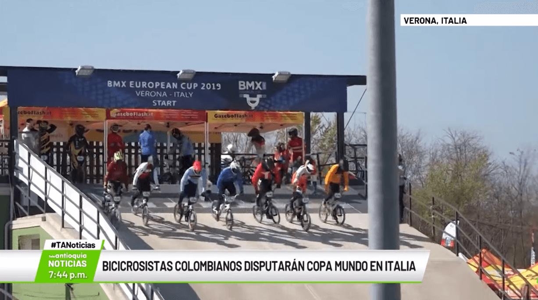 Bicicrosistas colombianos disputarán copa mundo en Italia