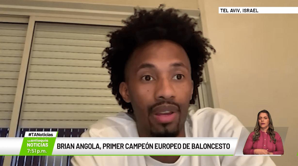 Brian Angola, primer campeón europeo de baloncesto