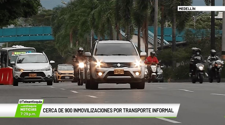 Cerca de 900 inmovilizaciones por transporte informal