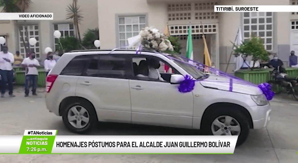 Homenajes póstumos para el alcalde Juan Guillermo Bolívar