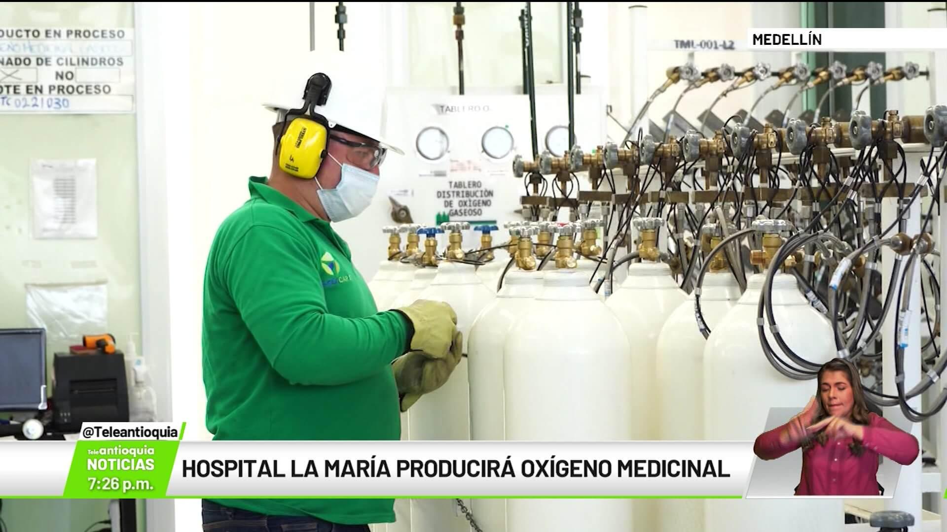 Hospital La María producirá oxígeno medicinal