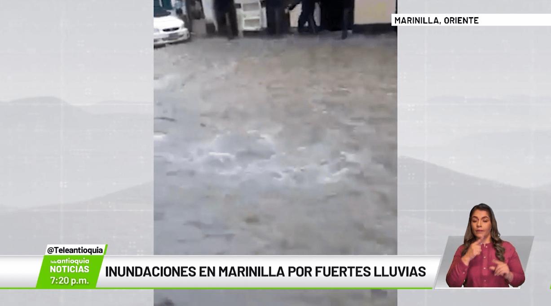 Inundaciones en Marinilla por fuertes lluvias