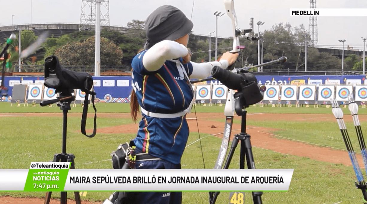Maira Sepúlveda brilló en jornada inaugural de arquería