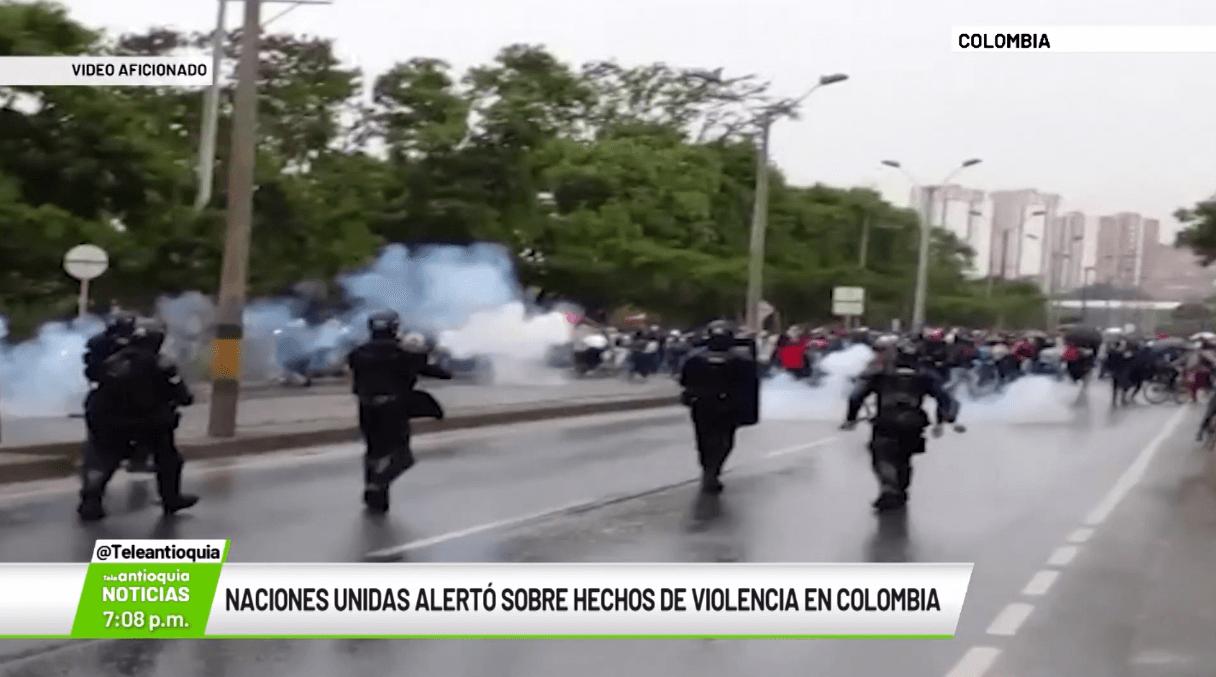 Naciones Unidas alertó sobre hechos de violencia en Colombia