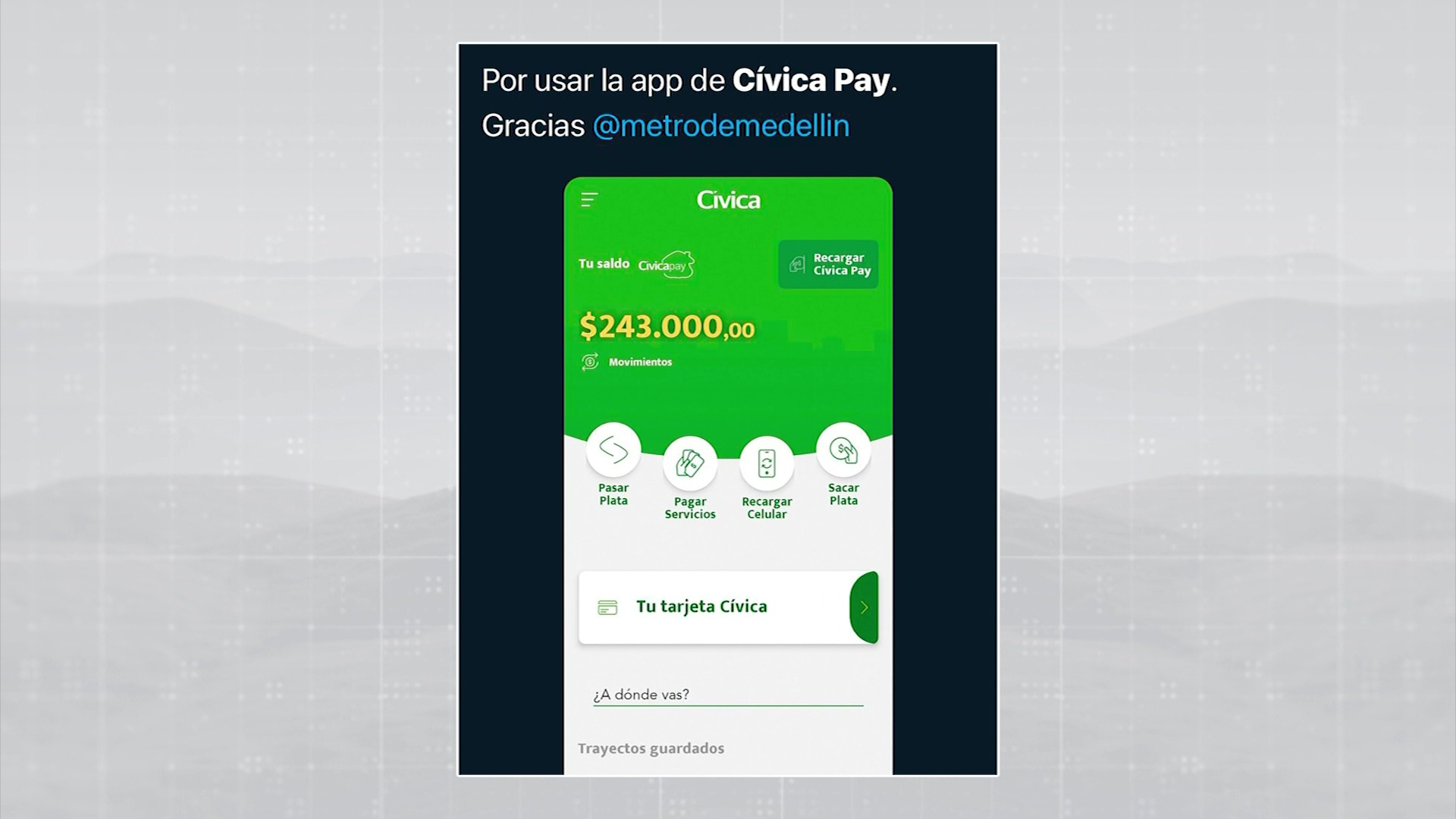 Sistema Metro sorprendió a los usuarios de Cívica Pay