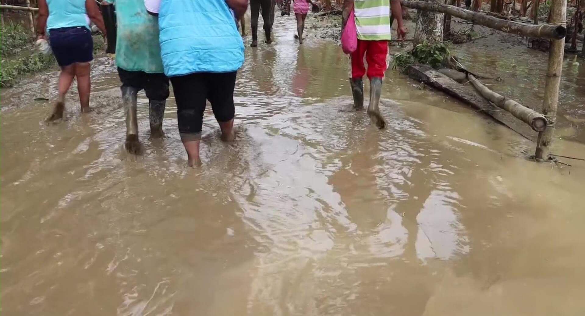 Zona rural de Turbo afectada por inundaciones