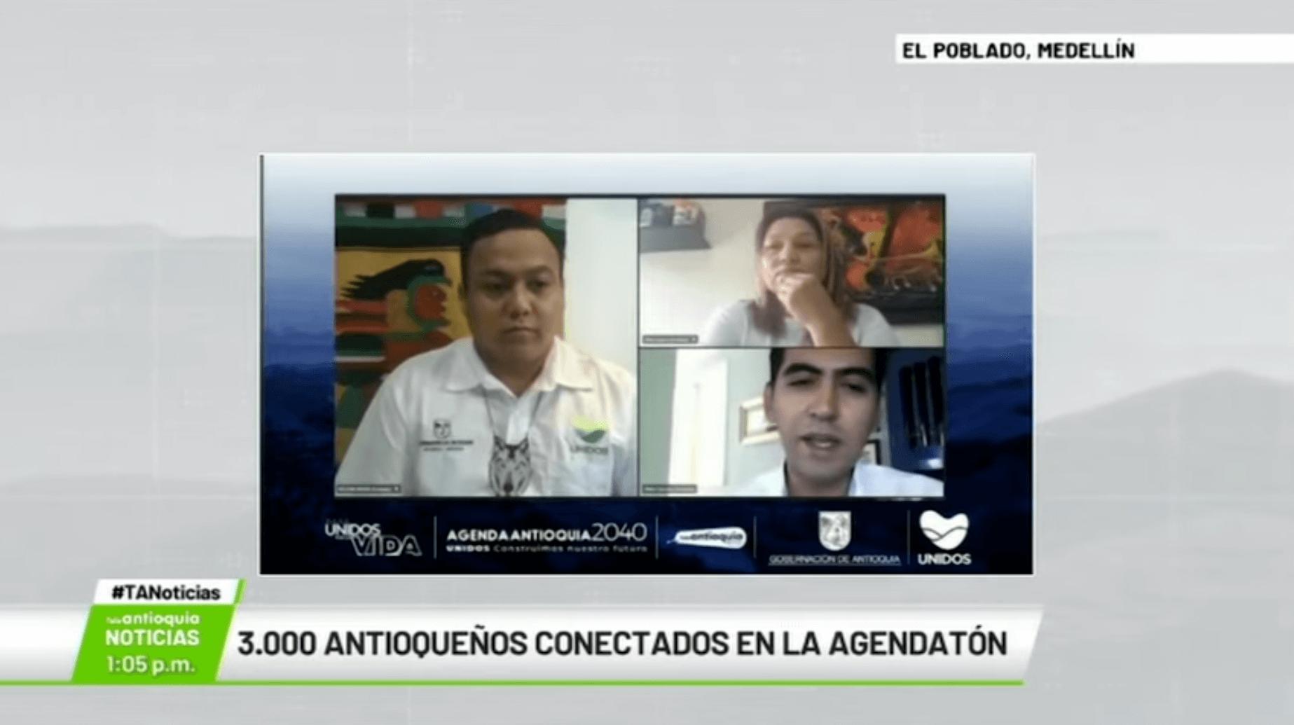 3.000 antioqueños conectados en la «Agendatón»