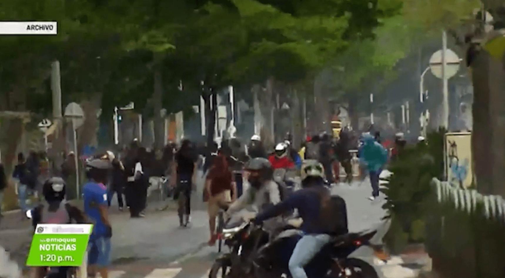 Manifestación terminó en enfrentamientos