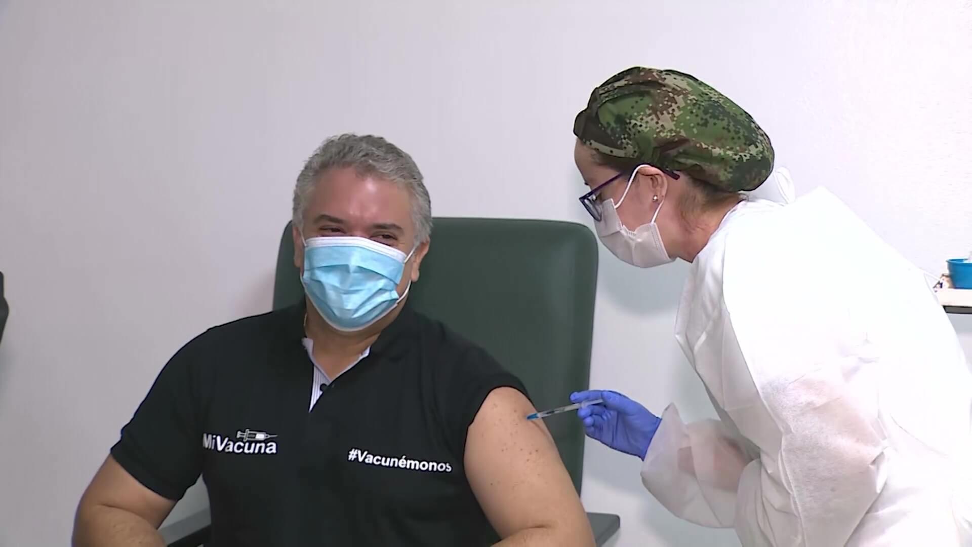 Iván Duque Márquez, inició su ciclo de vacunación