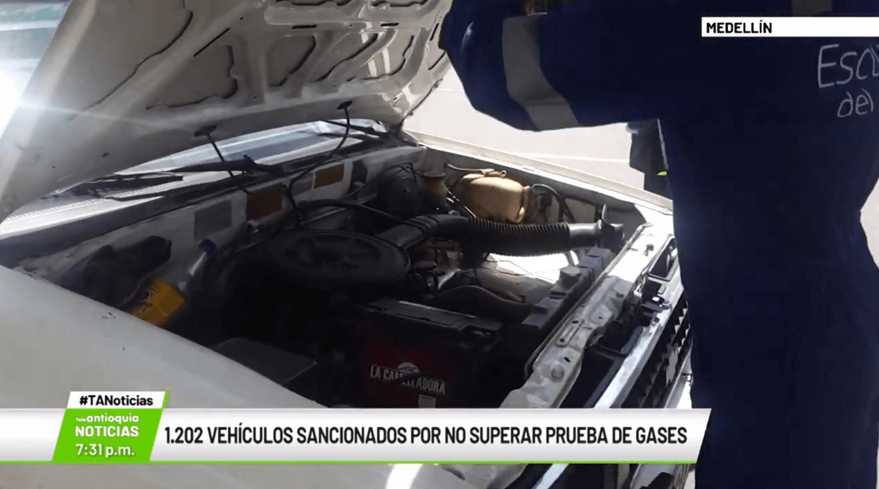 1.202 vehículos sancionados por no superar prueba de gases