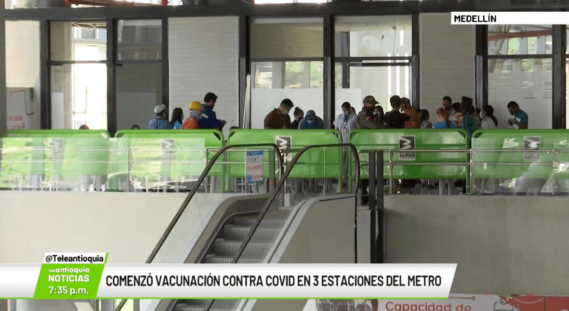 Comenzó vacunación contra Covid-19 en estaciones del Metro