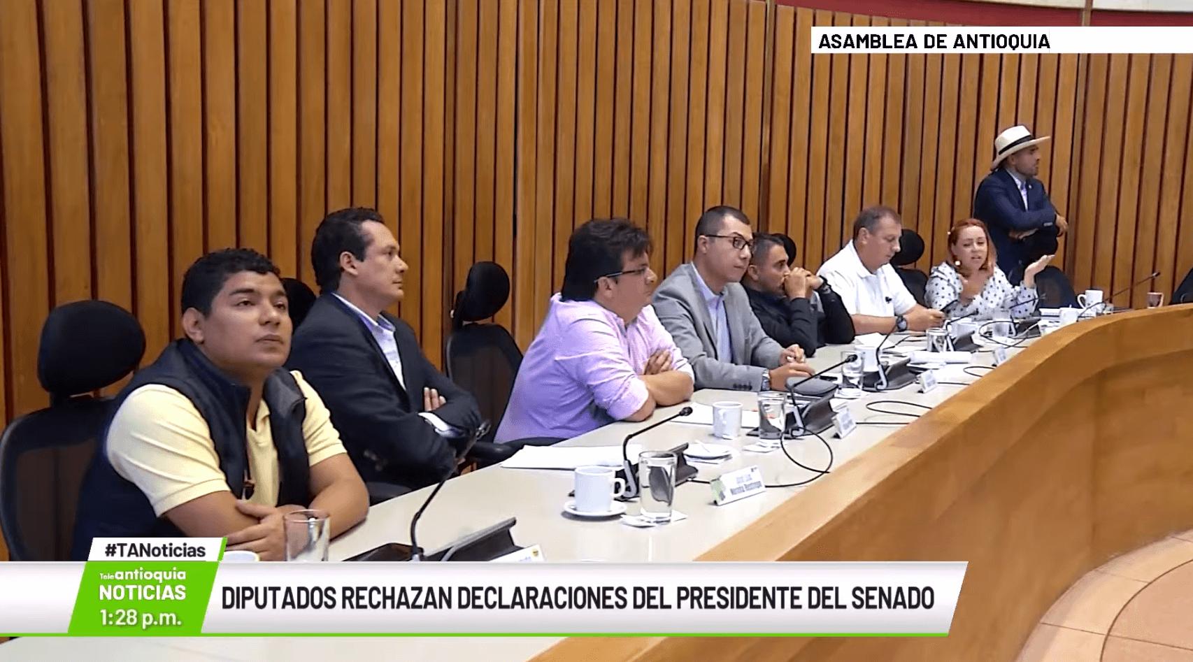 Diputados rechazan declaraciones del presidente del Senado