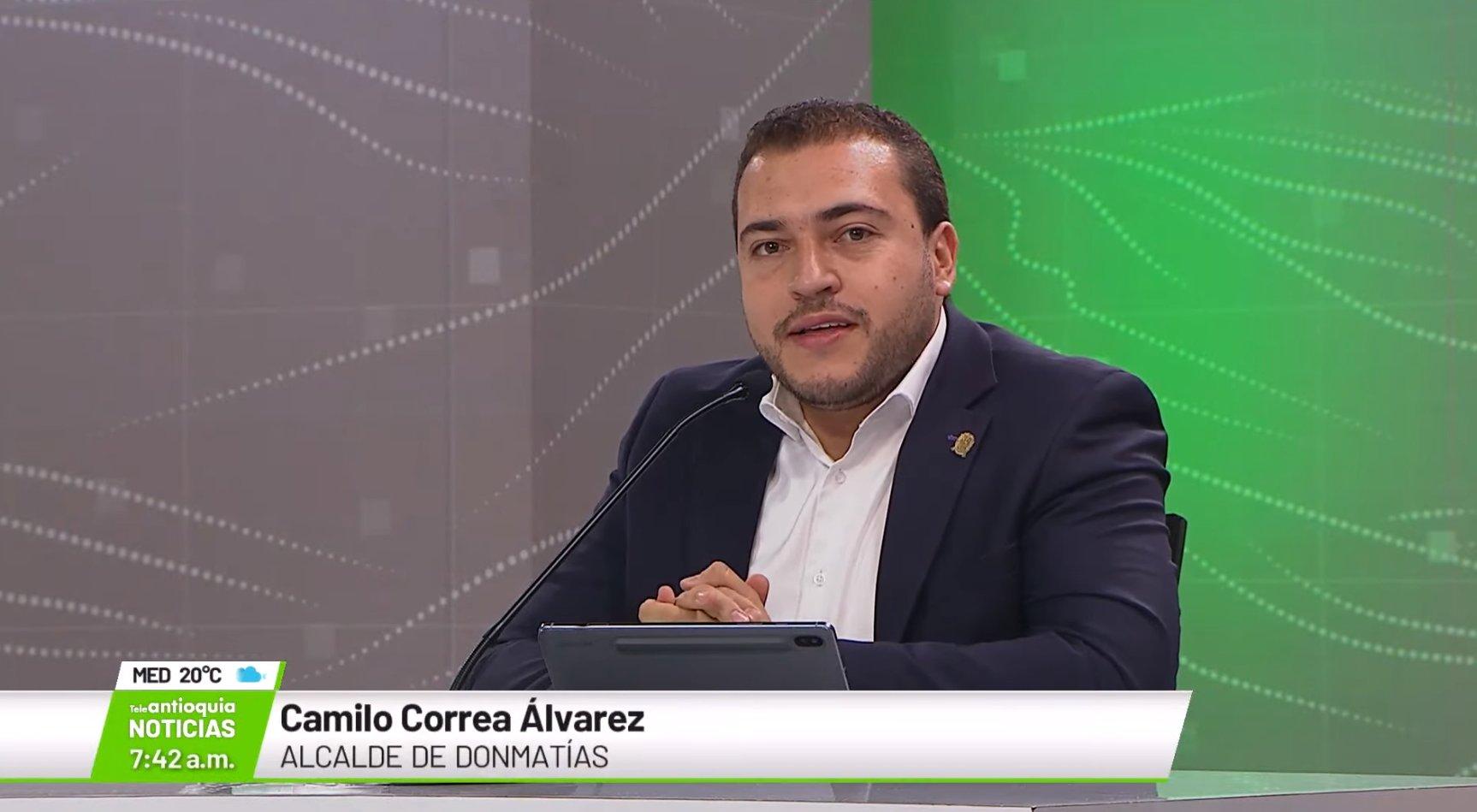 Camilo Correa Álvarez, alcalde de Donmatías