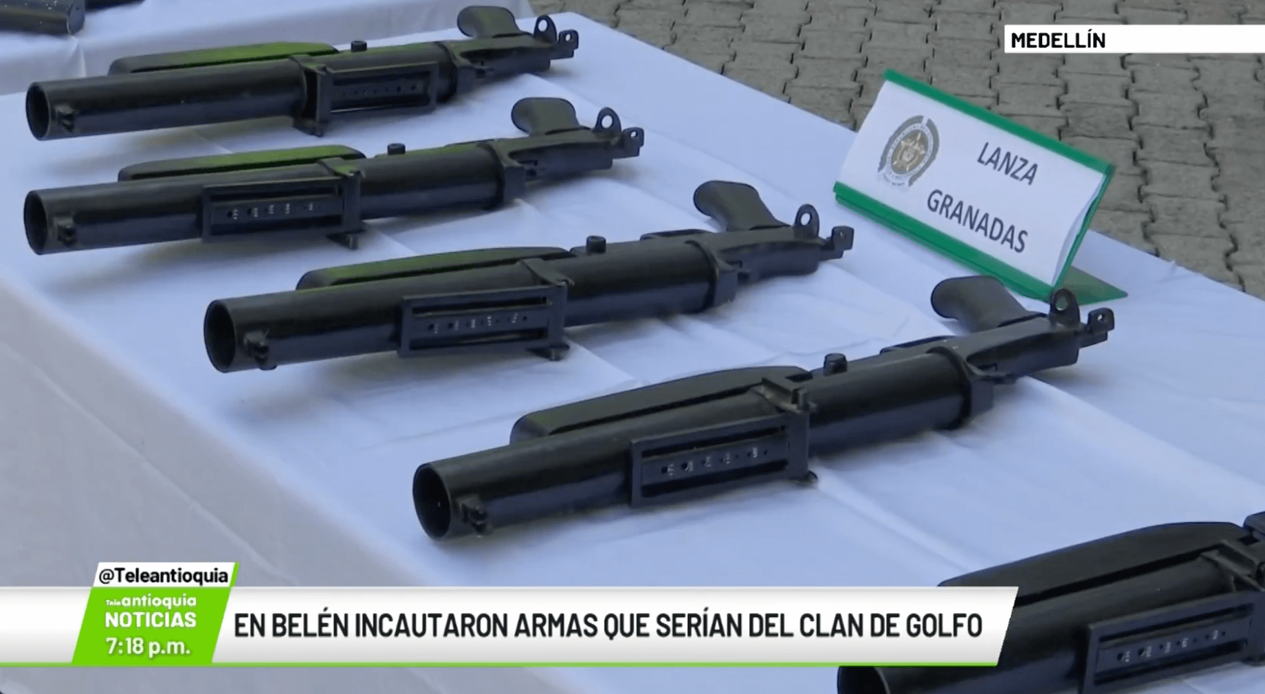 En Belén incautaron armas que serían del Clan del Golfo