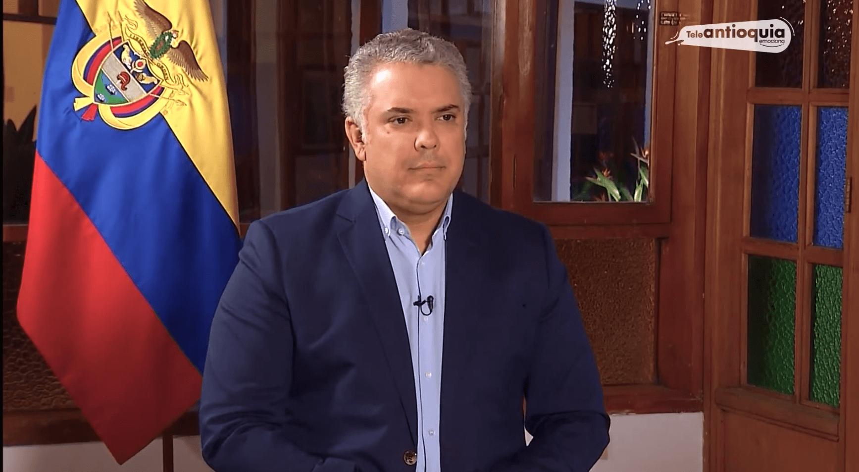 Entrevista exclusiva de Teleantioquia Noticias con el presidente de la República Iván Duque Márquez