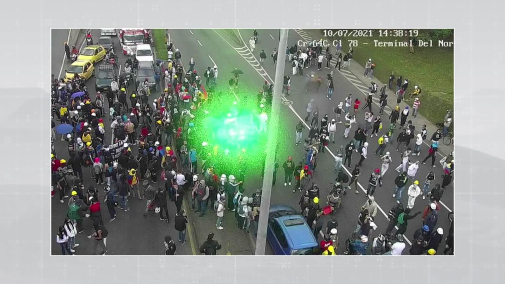 La marcha generó congestión vehicular en la zona Norte