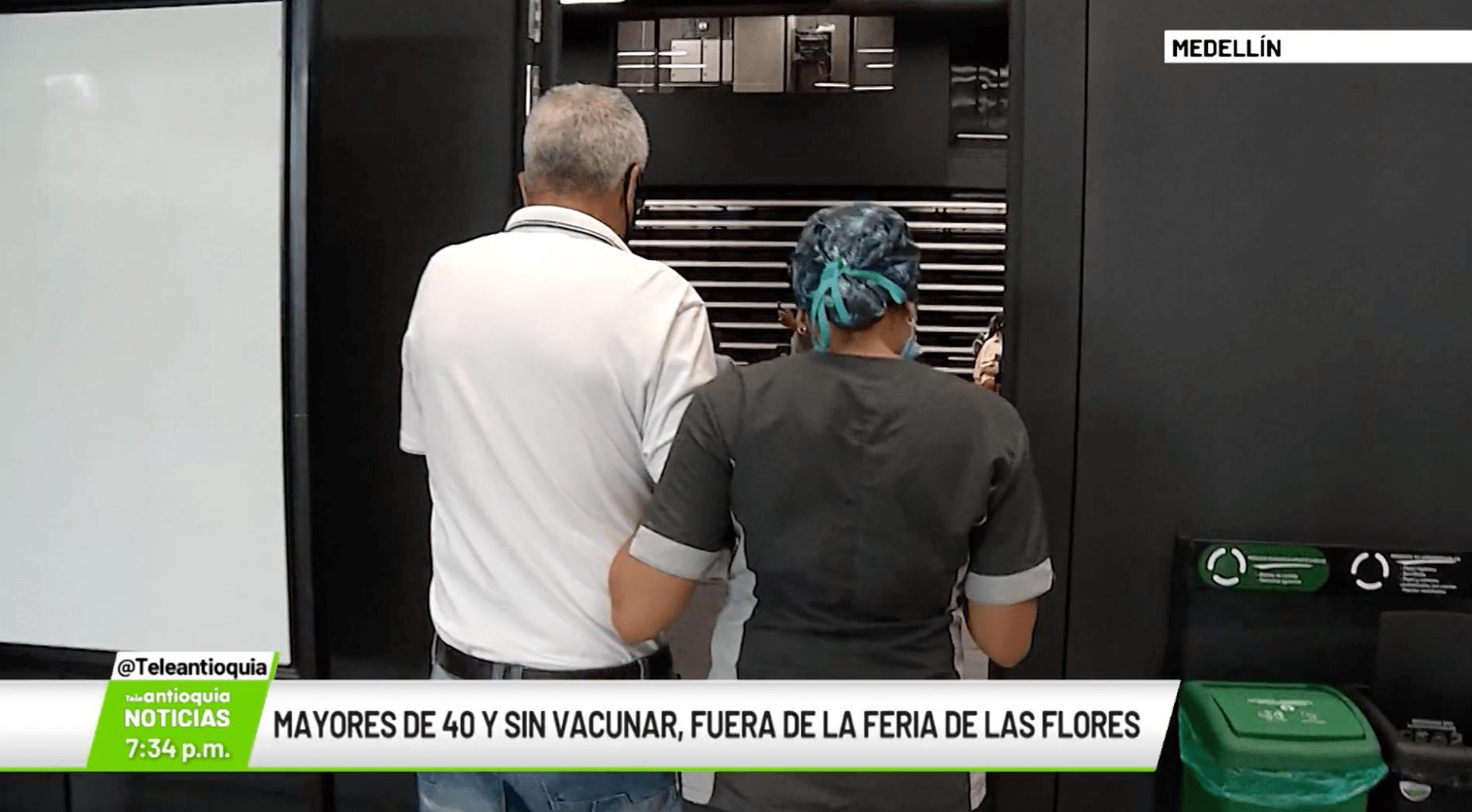 Mayores de 40 y sin vacunar, fuera de la Feria de Flores