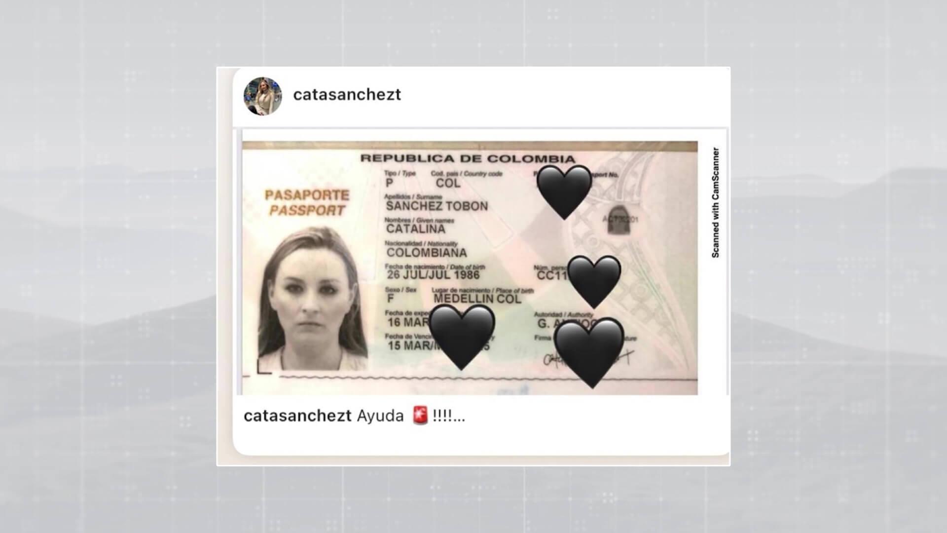 Pareja de colombianos clama por documentos perdidos