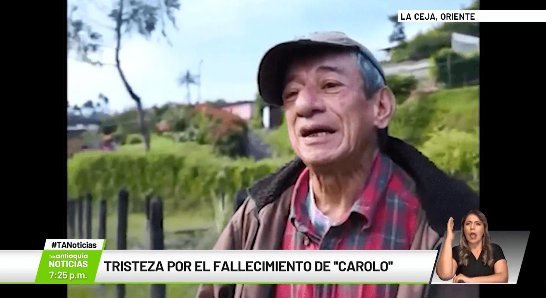 Tristeza por el fallecimiento de «Carolo»