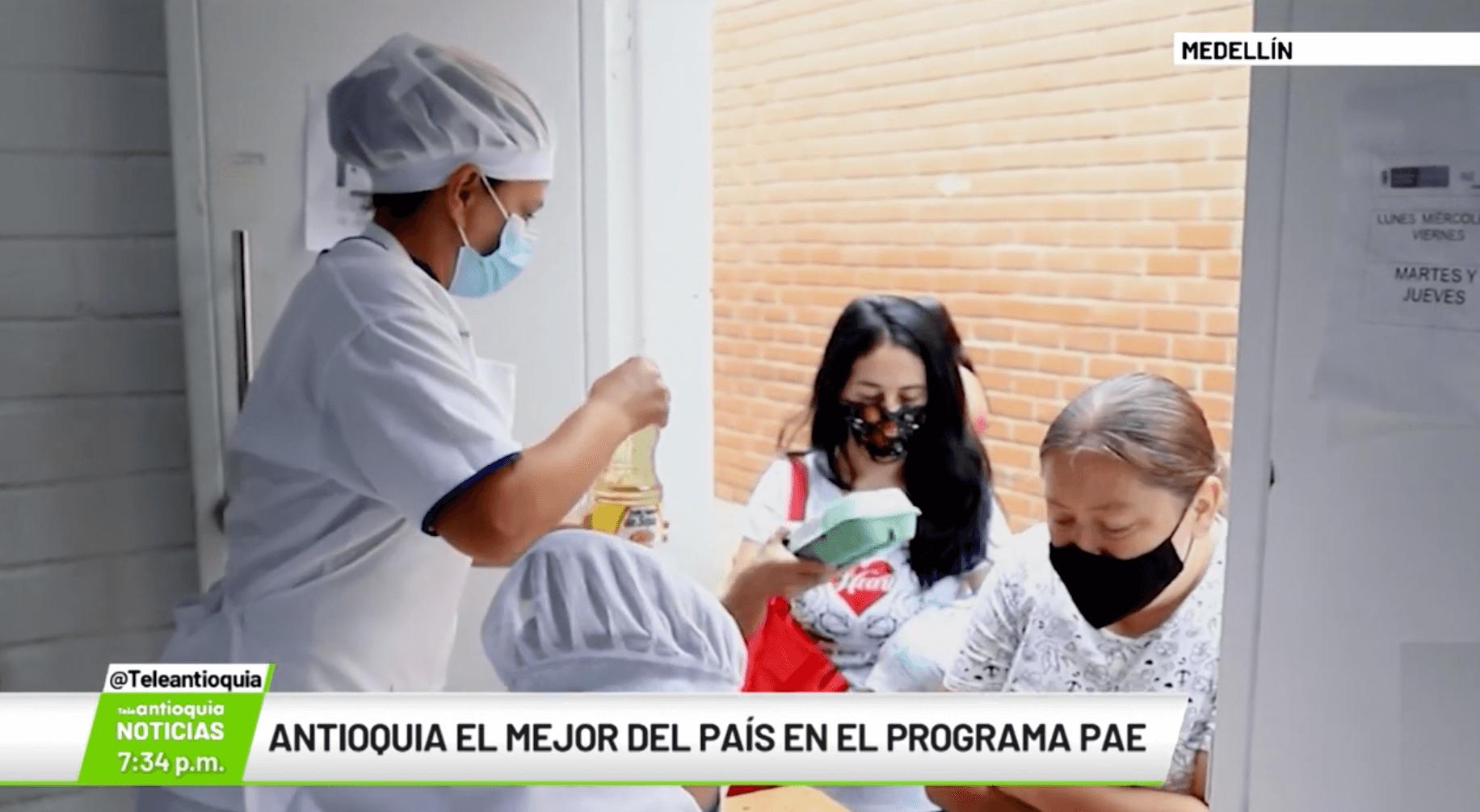 Antioquia el mejor país en el programa PAE