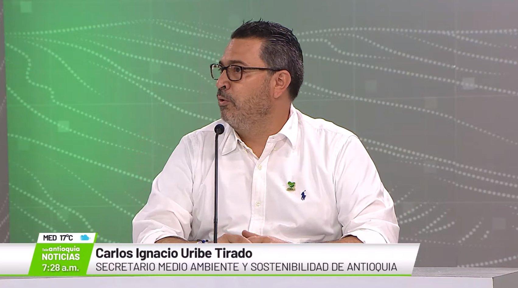 Carlos Ignacio Uribe Tirado, secretario de medio ambiente y sostenibilidad de Antioquia