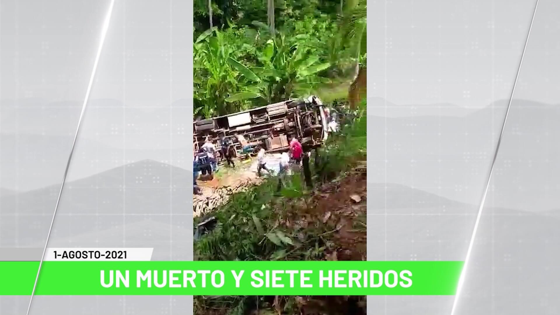 Titulares de Teleantioquia Noticias – domingo 01 de agosto de 2021 noche