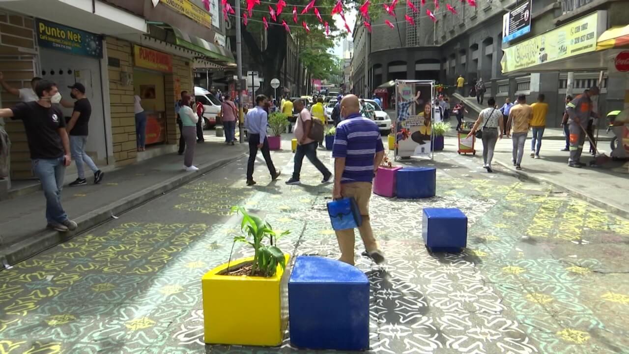 Calle Pichincha, entre carreras 44 y 45, quedó peatonal (1)