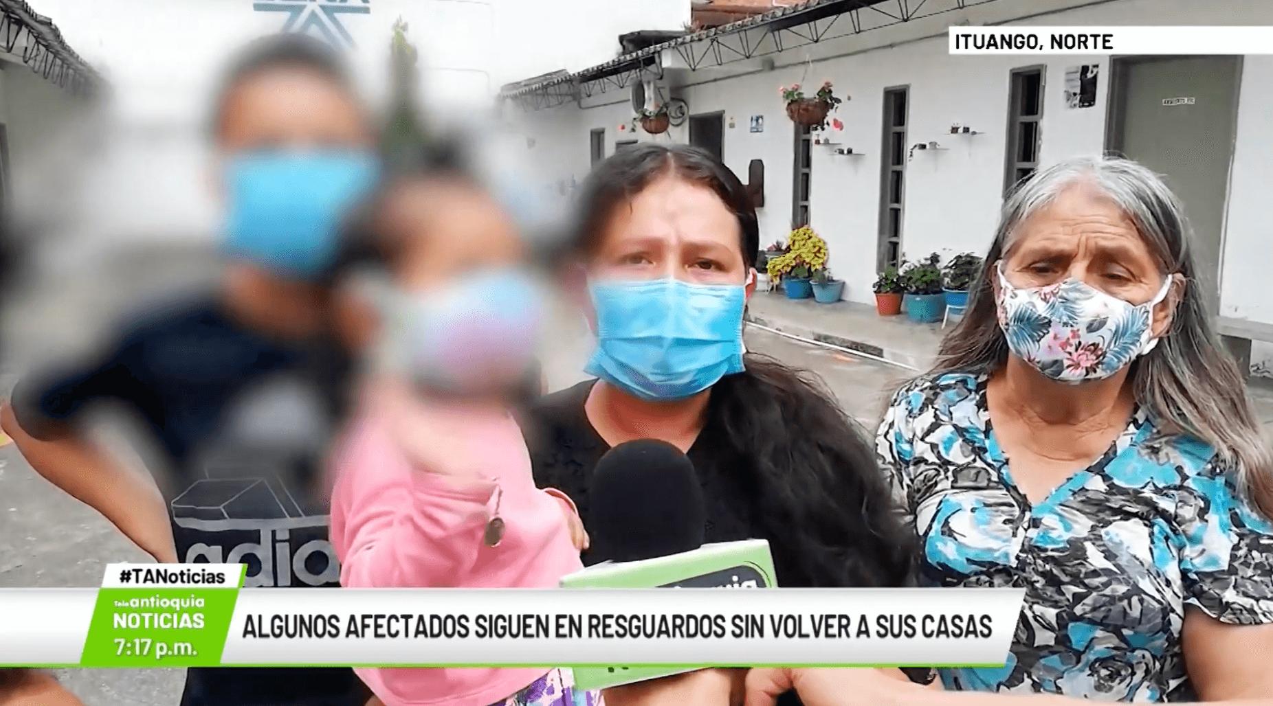 Algunos afectados siguen resguardados sin volver a sus casas