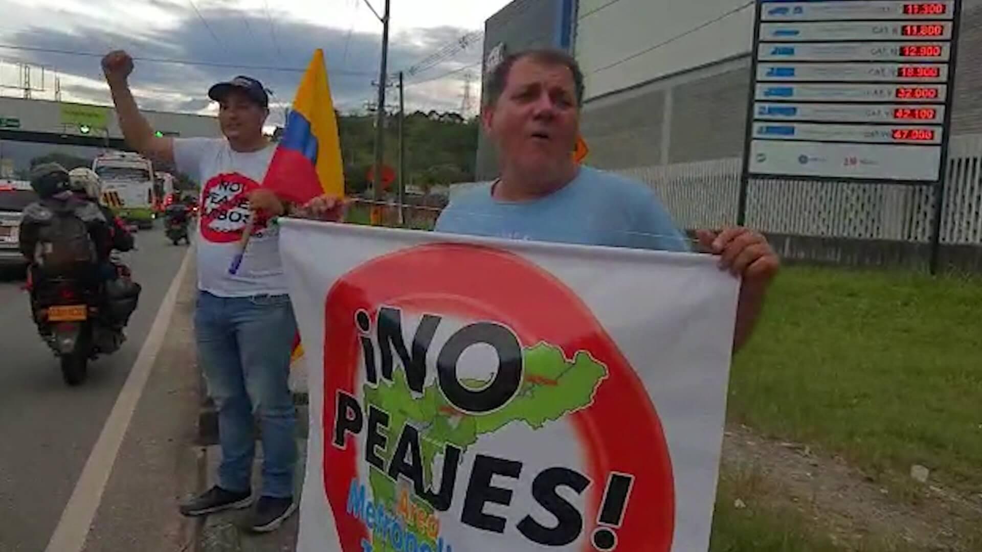 Con nueva manifestación piden retiro de peajes