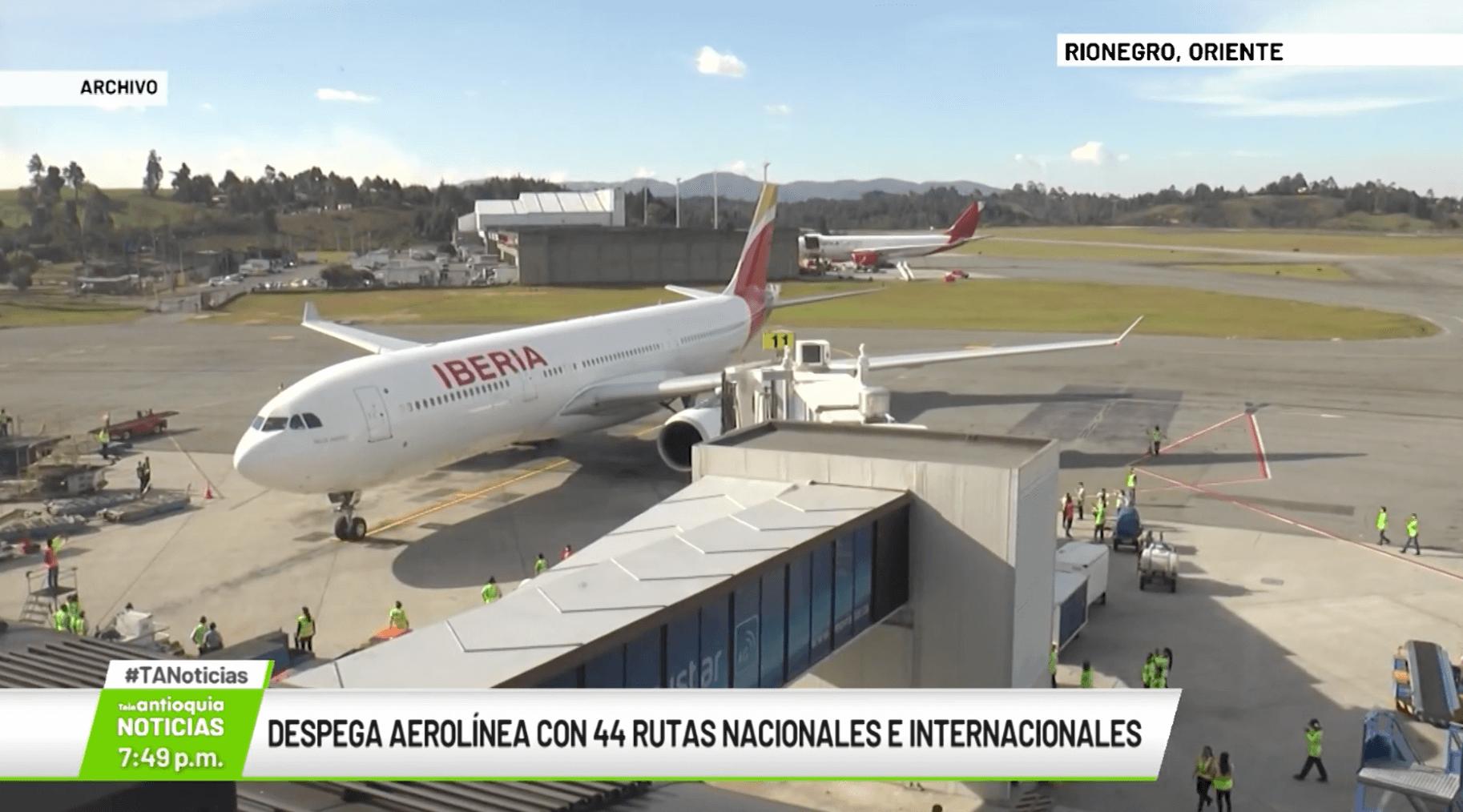 Despega aerolínea con 44 rutas nacionales e internacionales