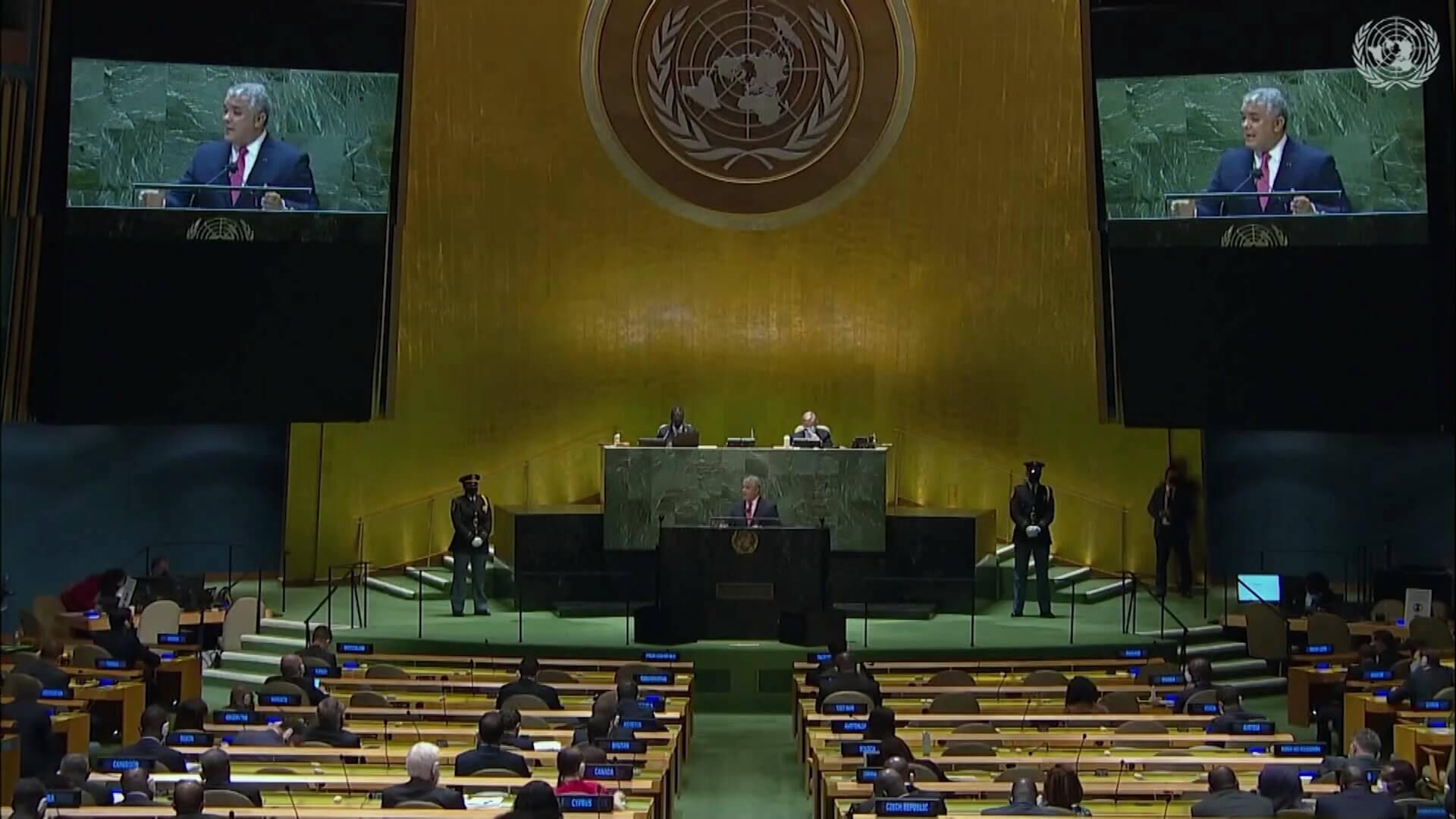 Duque pide ante la ONU distribución equitativa de vacunas
