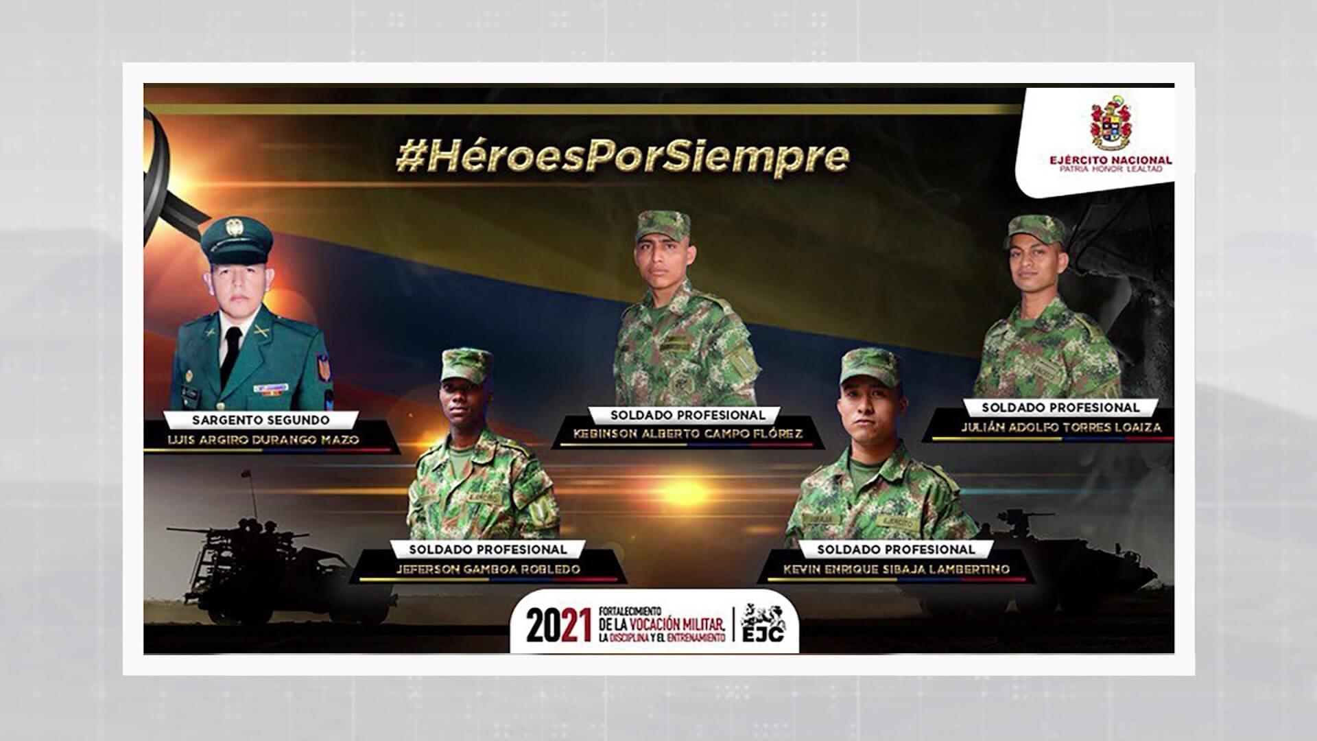 Militar antioqueño entre los 5 soldados muertos en Arauca