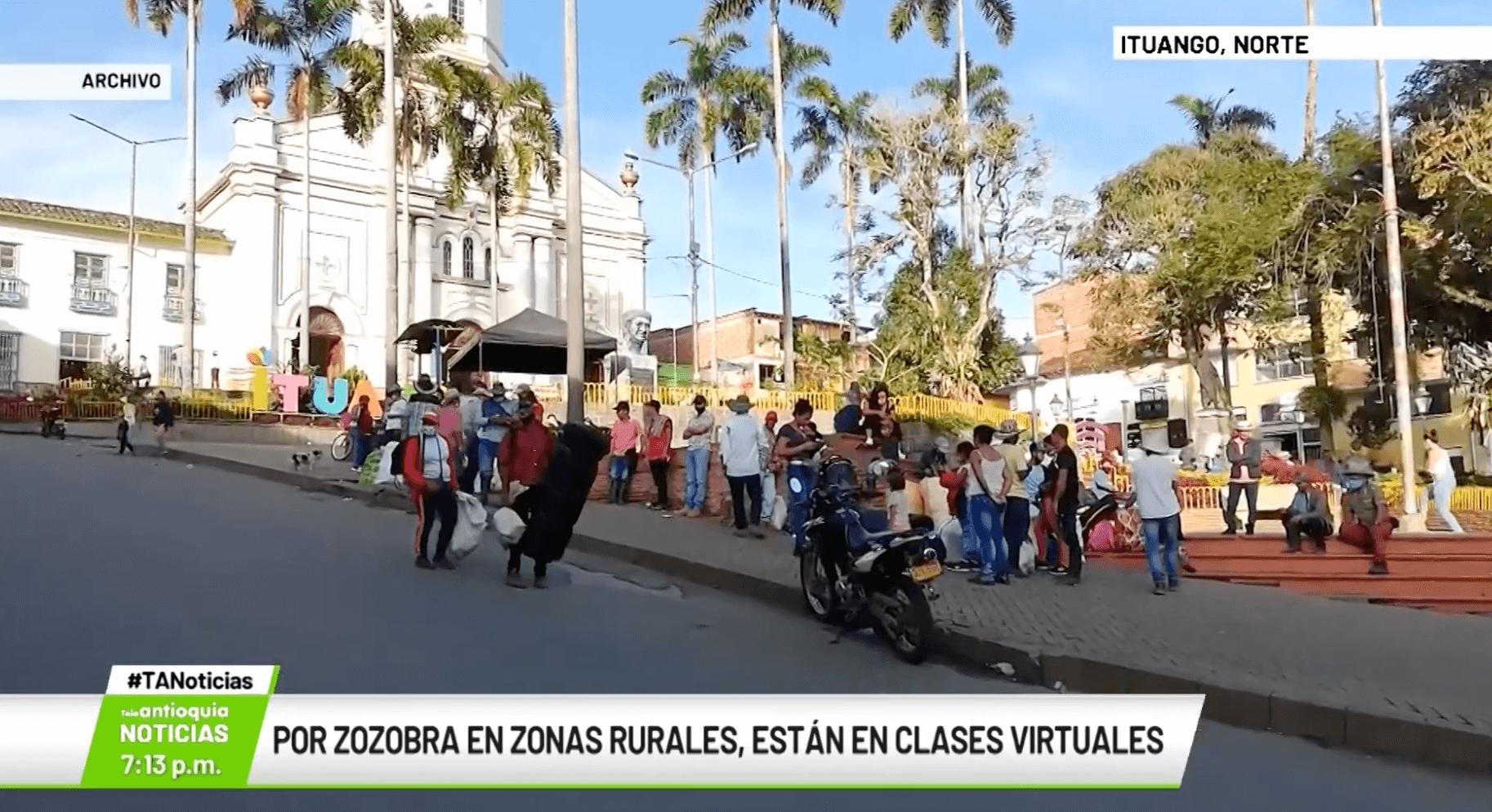 Por zozobra en zonas rurales, están en clases virtuales