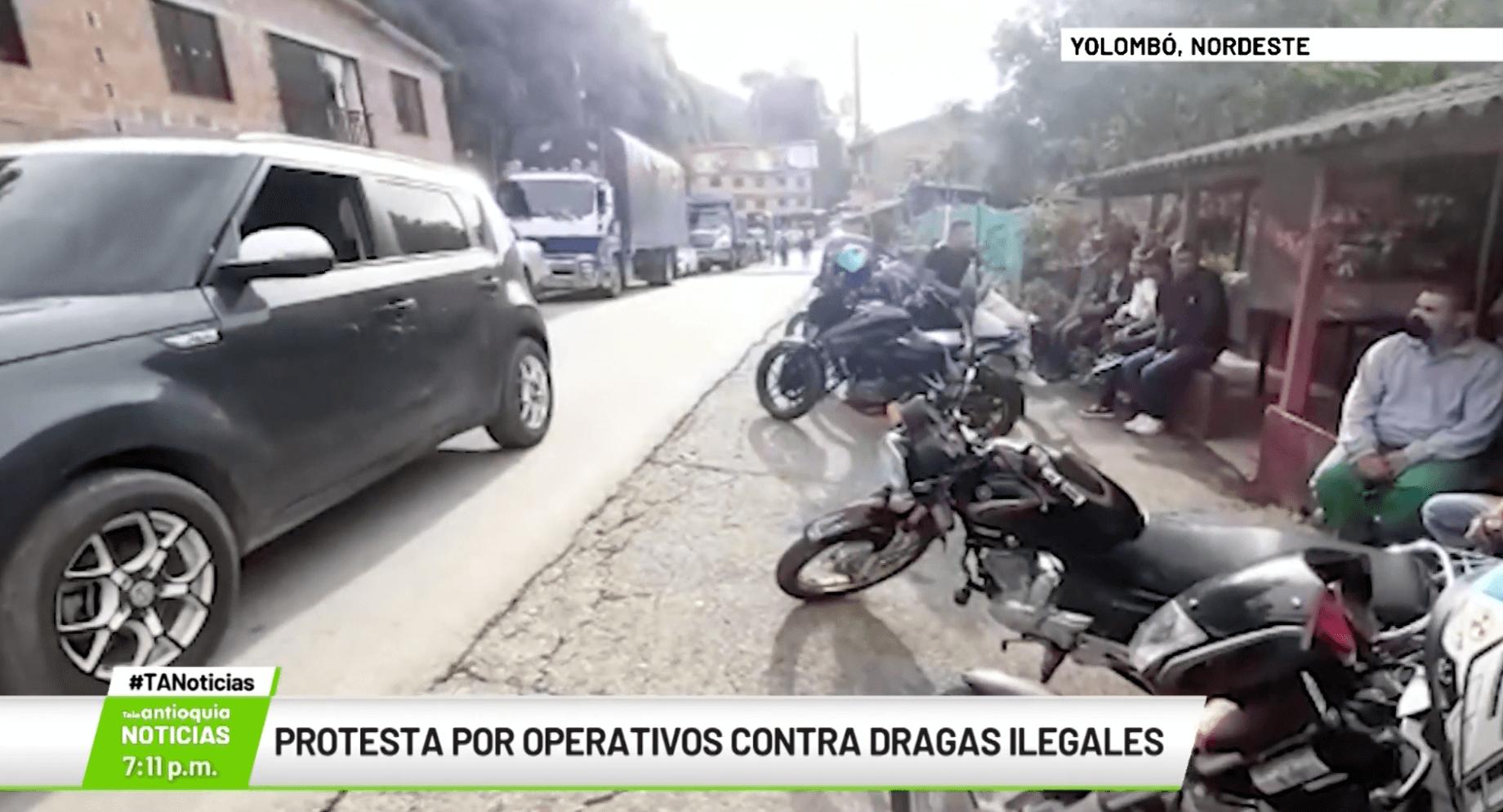 Protesta por operativos contra dragas ilegales