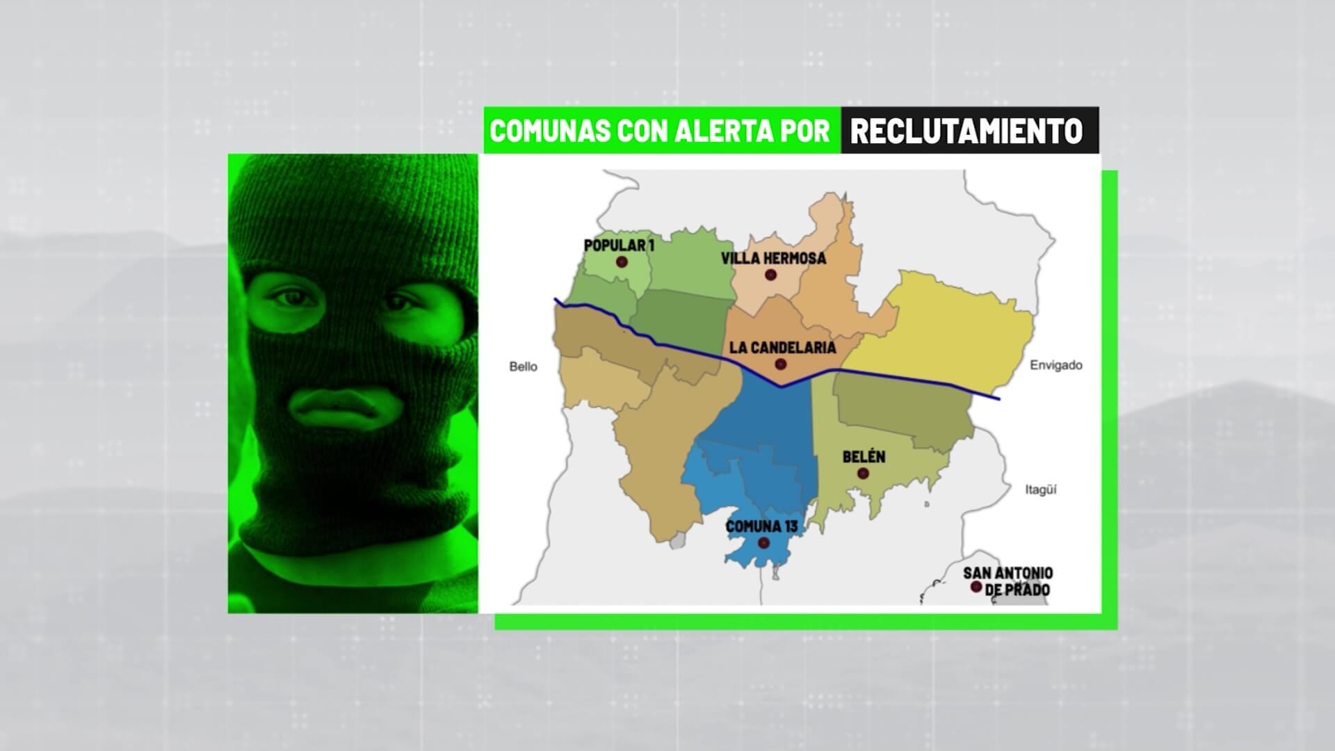Reclutamiento de menores en seis comunas