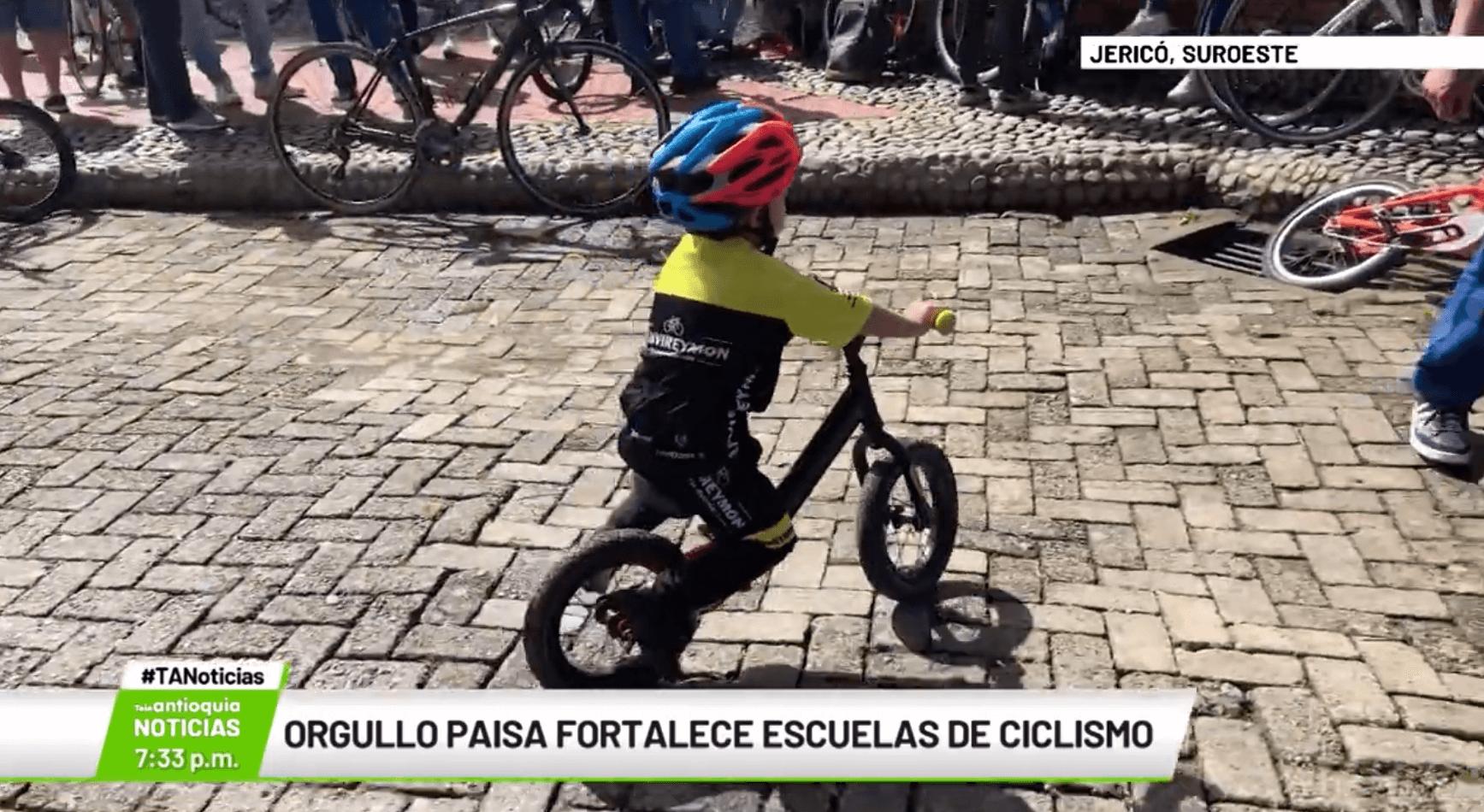Orgullo paisa fortalece escuelas de ciclismo