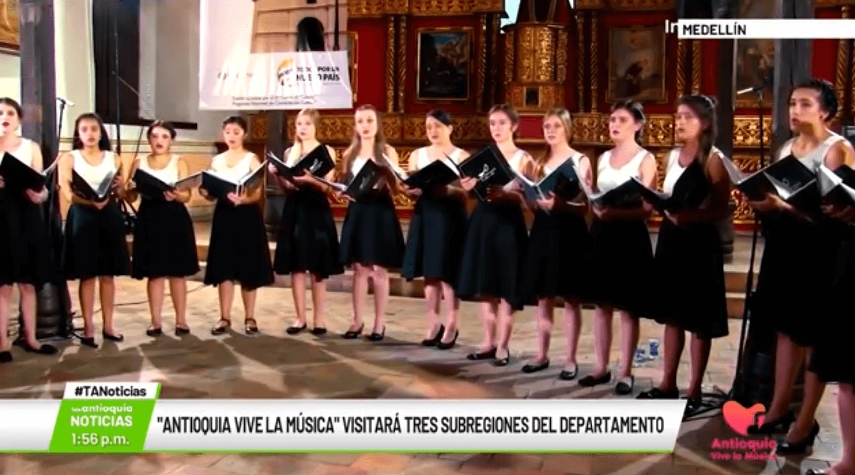 'Antioquia vive la música' visitará tres subregiones del departamento