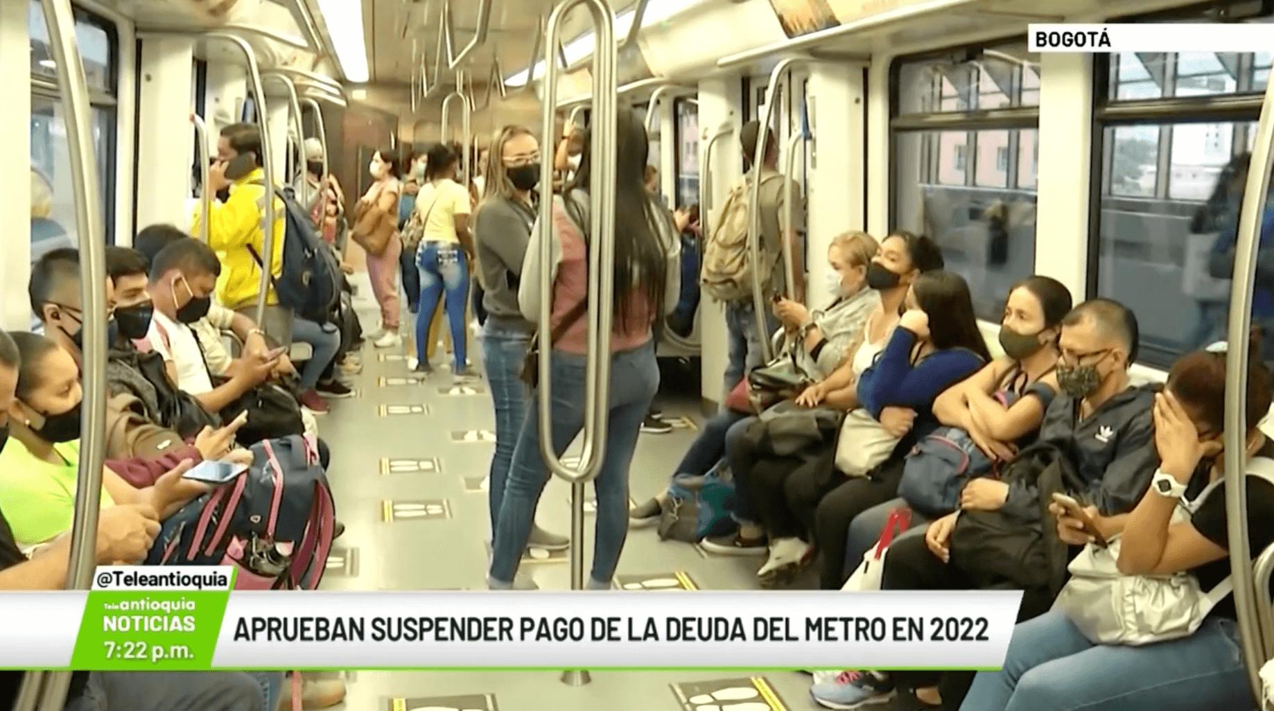 Aprueban suspender pago de la deuda del Metro en 2022